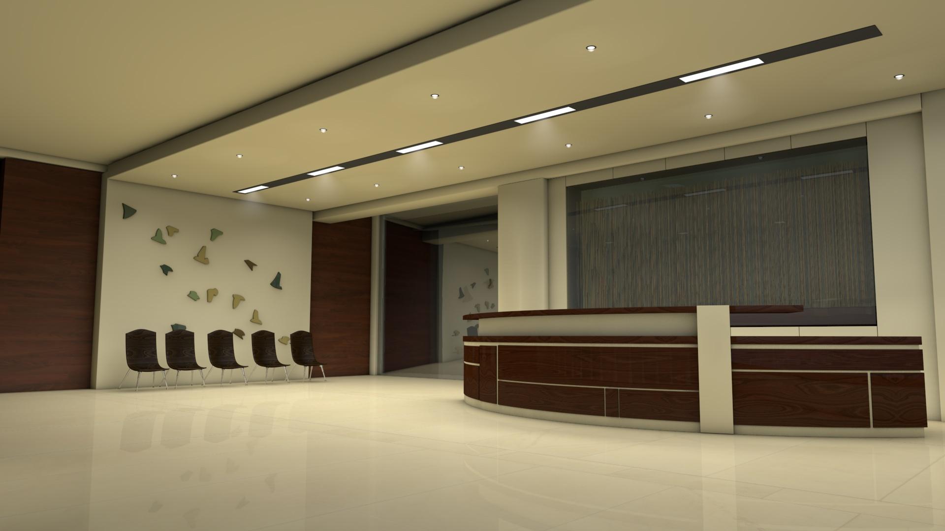 Jonathan keenan office reception area for Modelos de oficinas modernas